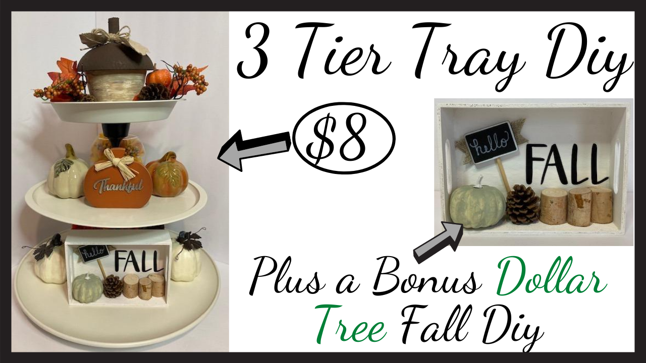 3 Tier Tray Using Items From Dollar Tree Country Lily Decor